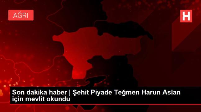 Son dakika haber | Şehit Piyade Teğmen Harun Aslan için mevlit okundu